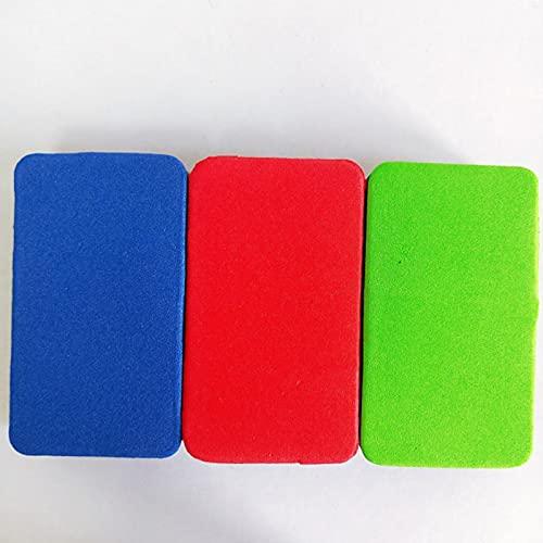 Borrador magnético 3 PCS Mini niño colorido EVA Sponge Whiteboard Eraser borrado seco Board Marker Cleaner Chalk Blackboard Limpiar suministro de escuela Removedor de manchas