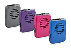 VERTICAL AIRFLOW KEEPS YOU COOL: When the summer heat hits, our powerful fan keeps you cool! Optimal vertical air vent ensures you're getting a cool breeze so you stay cool, dry, and comfortable! WEAR IT AROUND YOUR NECK: This hands-free portable fan...
