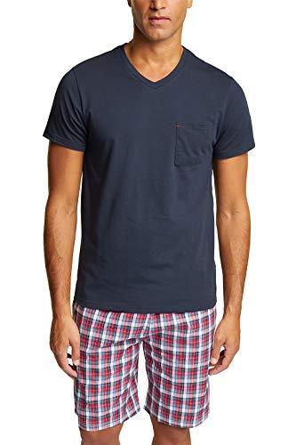 ESPRIT Bodywear Herren GHERRY NW OCS Kombi Pyjama Shorty Pyjamaset, 401, L