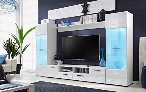 ExtremeFurniture Switch Meuble TV, Carcasse en Mat/Façade en Mat, avec éclairage LED