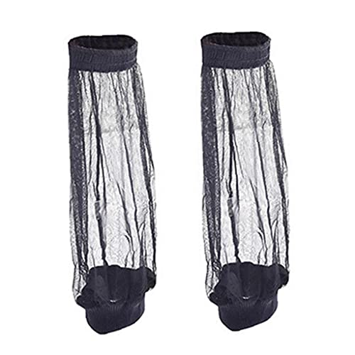 YepYes Mesh Anti-mosquito Foot Sleeves Outdoor Survival Sports Net Jungle Mosquito Sock Leg Protector Camping Equipment Black 1 Pair