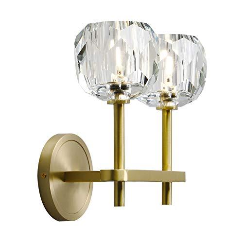 Phansthy 2 Light Sconce Antique Brass Bathroom Vanity Light With 3 9 Inches Globe Crystal Light Shade For Bedside Kitchen Bedroom Bathroom 2 Light Buy Online In Bermuda At Bermuda Desertcart Com Productid 154772388