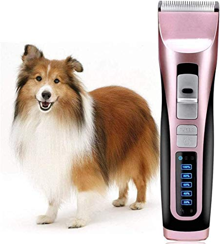 YYZHAO Electric Cat Hair Clippers,Rechargeable Silent Dog Trimmer Tool 3 Speed Pet Grooming Kit For Small Medium Large Dogs Or Cats 9.27