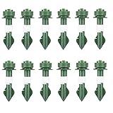 Conjunto de riego automático, Picos de Waterer Dispositivos de riego de Plantas Auto Drip Dispositivos de irrigación para Plantas en Maceta Jardín Interior Verde 12pcs