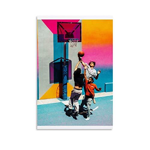 ZXCQWE Póster de baloncesto, pintura decorativa, lienzo para pared, sala de estar, póster, dormitorio, pintura, 50 x 75 cm