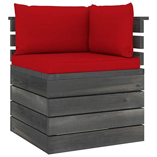 Tidyard Cojin Palés Tino Lounge - Cojin De Asiento O Respaldo para Sofás Palets Sofá esquinero de palets de jardín con Cojines Madera de Pino 3#