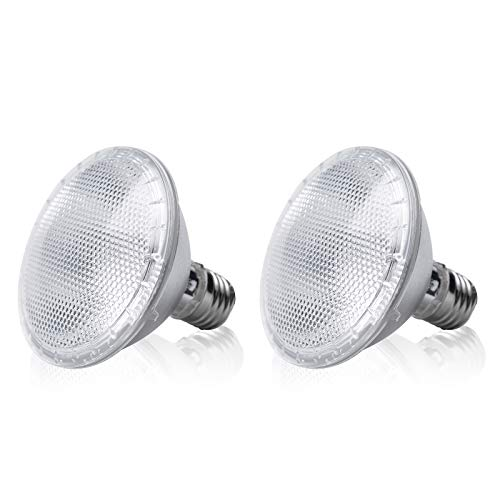 Bonlux Bombillas halógenas PAR30 de 75 W, casquillo E26 pequeño, 500 lm, blanco cálido, 2800 K, PAR30 para lámparas empotrables (2 unidades)