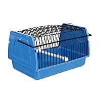 Transport box for small birds and small animals Made from plastic material Ideal for carrying the pet to the vet Can be opened at the top Comes with handle and removable perch