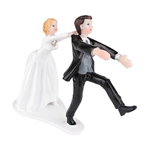 LUOEM Hochzeitspaar Bride Groom Hochzeitstorte Figuren Kuchen Topper Hochzeitstorten Dekoration Kuchenaufsatz