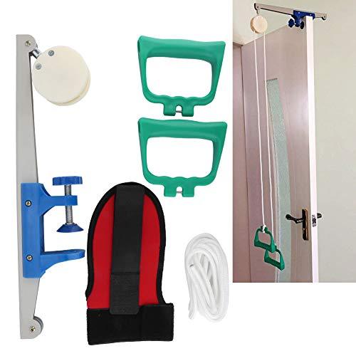 Kit de entrenamiento de rehabilitación, polea de ejercicio cervical para articulación del hombro conjunto de polea de ejercicio para brazo sobre la puerta para ayudar a la rehabilitación y aumentar