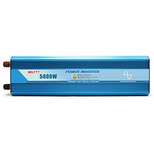 Onda sinusoidal del inversor Puro 5000W 2ac Outlets Convertidor de Voltaje de automóvil 24V 48V DC A 220V CA Puerto USB Pantalla LCD Dual Pantalla para autocaravanas 24V-220v-10000W