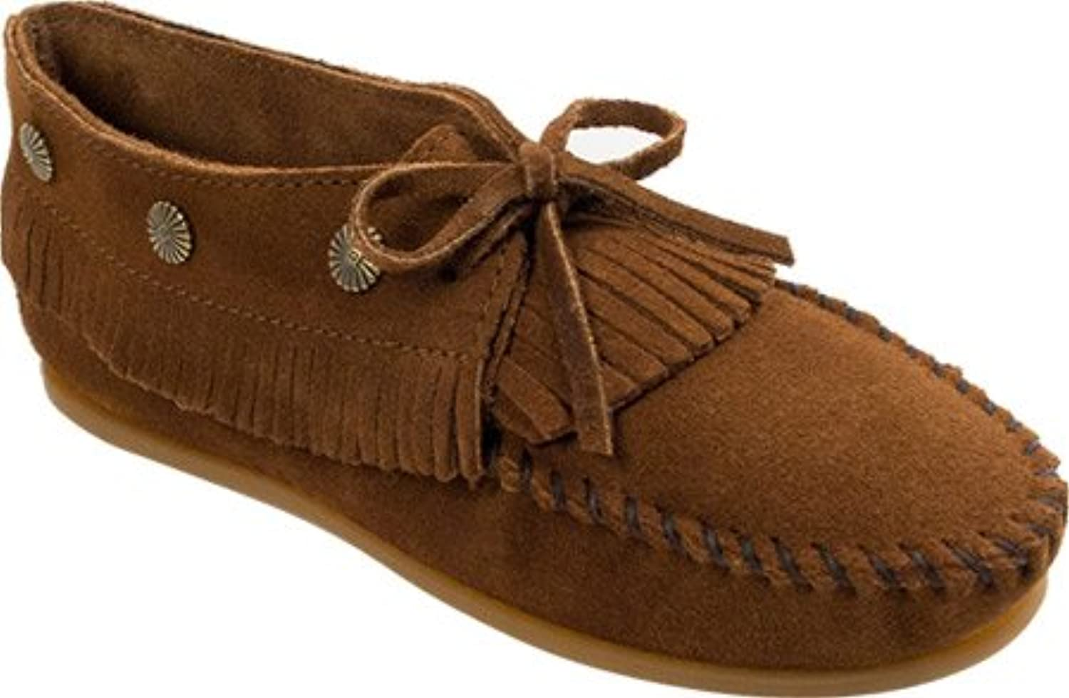 Minnetonka shoes Womens Fringed Lightweight Moccasin 8 Brown 533