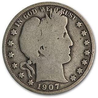 1907 S Barber Half Dollar Good Half Dollar Good