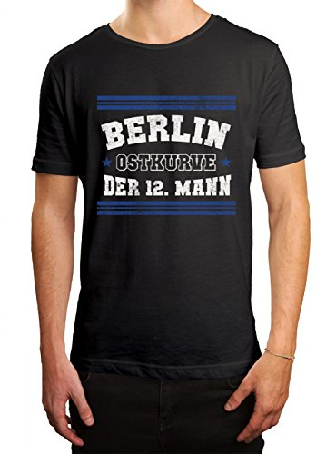 Berlin #3 Premium T-Shirt | Fussball | Fan-Trikot | Der 12. Mann | Herren | Shirt, Farbe:Schwarz (Deep Black L190);Größe:S