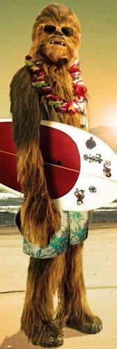 empireposter - Star Wars - Chewie Surf - Größe (cm), ca. 53x158 - Türposter, NEU -