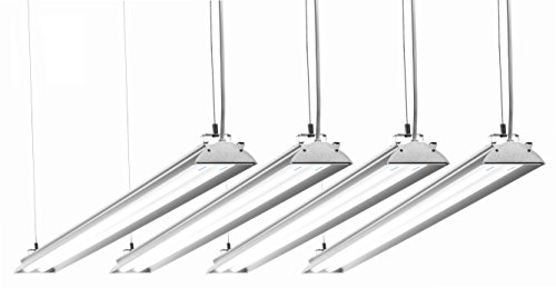Hyperikon 4 Foot LED Shop Light, 100 Watt (35W), Shop and Garage Lighting, 5000K, Frosted, 4 Pack