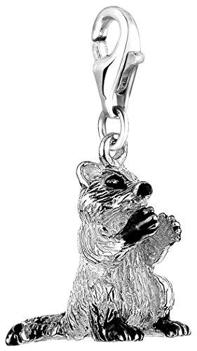 Nenalina Pendentif Charm raton laveur - argent sterling pour tous les bracelets Charm 714078-001