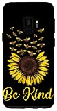 Galaxy S9 Case Be Kind - Beautiful Sunflower Bee Phone Case