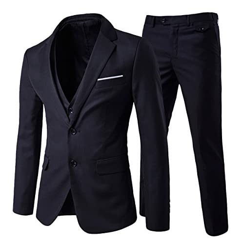 Cloudstyle Men's Modern Fit 3-Piece Suit Blazer Jacket Tux Vest & Trousers