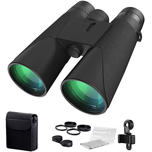 Prismáticos compactos HD Profesionales, Resistentes al Agua, 12 x 42 cm, telescopios con un Precio Superior BAK4 FMC, Adultos, Aves, Viajes, Senderismo