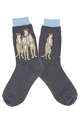 Women's Animal-Themed Socks, MeerKats