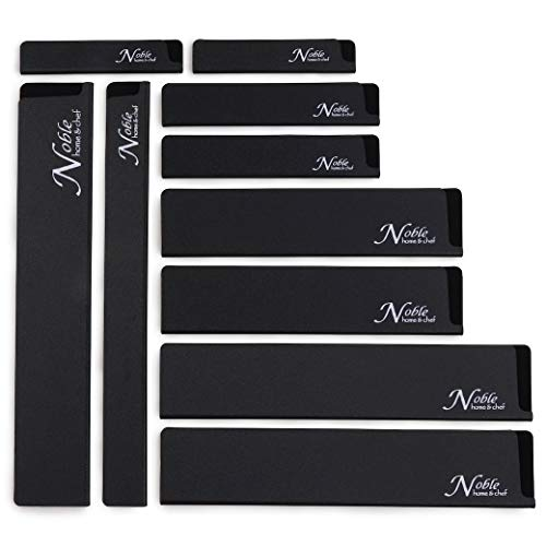 10-Piece Universal Knife Edge Guards are More Durable, Non-BPA, Gentle on Your Blades, and Long-Lasting. Noble Home & Chef Knife Covers Are Non-Toxic and Abrasion Resistant! (Knives Not Included)