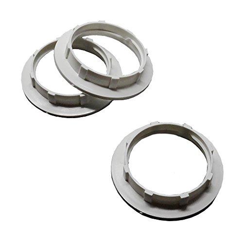 Schraubring E27 Kunststoff Weiß 3 Stück für Lampen-Fassung Ring