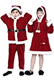 Boys' Xmas Claus Santa Costume,Toddler Kids Role Play & Dress Up,Red Winter Velet Suits for Christmas Fancy Party
