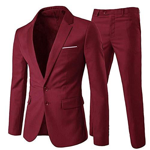 Allthemen Traje de 2 piezas para hombre, ajuste delgado, vestido de boda,...
