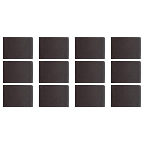ASA Selection 7804420 table top Lederoptik Tischset, 46 x 33 cm, Kunststoff, schoko (12er Pack)