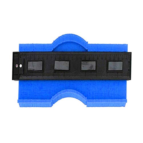Lazzgirl 9,8 Zoll / 250 mm Kunststoff-Konturkopie-Kopiergerät für Rundprofil-Messgerät(Blau)