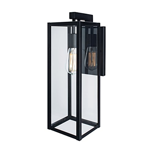Norwell Lighting 1186-MB-CL Capture Outdoor Sconce (Matte Black w/Clear Glass)