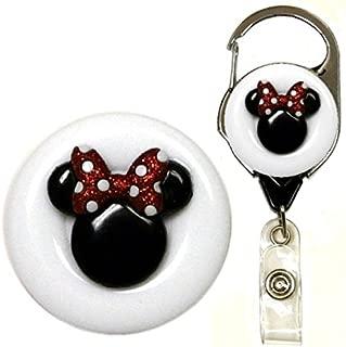 Mouse Ears Symbol Real Charming Premium Metal Carabiner ID Badge Holder Badge Reel (Minn MC)