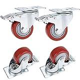 'athomestore 34unidades 75mm ruedas ruedas cesta para mueble (con freno, ruedas de transporte...
