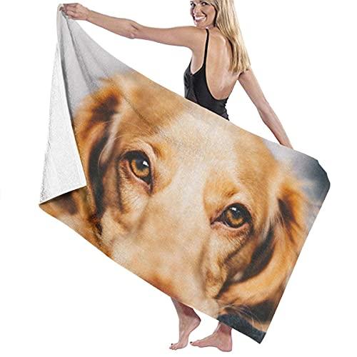 Toalla de baño de microfibra para perro acostado en el suelo, natación, natación, súper suave, súper absorbente, ropa de baño, 51 x 31 pulgadas