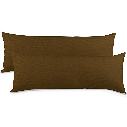 aqua-textil Classic Line Housse de Coussin Lot de 2 Fermeture Éclair Coton 40 x 145 cm Marron foncé