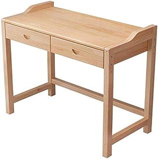 طاولات عالية الجودة للمنزل والمكتب والأثاث مكتب خشب الصنوبر، درجان مكتب الكمبيوتر متعددة الوظائف, 120x50x75cm