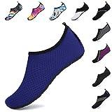 SAGUARO Verano Zapatos de Agua Secado Rápido para Hombre Mujer Secado Rápido Escarpines Deportes acuáticos Unisex-Adulto Azul A 40/41 EU