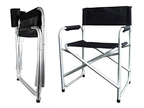 Hyfive Directores Silla Plegable de Aluminio Asiento de Camping con