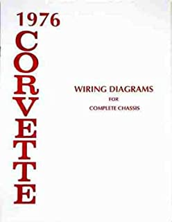 1976 CORVETTE COMPLETE SET OF FACTORY ELECTRICAL WIRING DIAGRAMS & SCHEMATICS GUIDE - 8 PAGES. CHEVY CHEVROLET 76