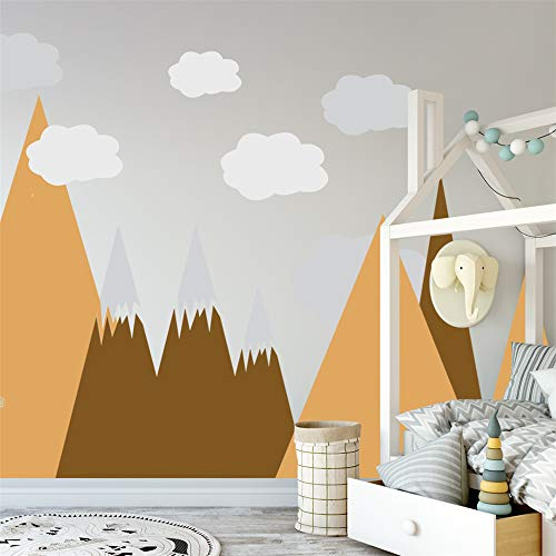 Fliesenaufkleber,Abnehmbare wasserdichte Wandaufkleber mit Giebelwolkenaufklebern, moderne Kinderzimmerkombinations-Wandaufkleber