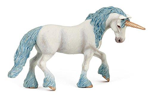Papo - Unicornio mágico, figura con diseño Mundo de Hadas, color azul (2038824)