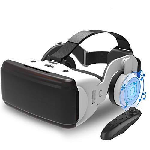 2021昇級版Kakugo 3D VRゴーグル ヘッドホン付き VRコントローラー付きiphone Android