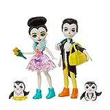 Enchantimals coffret La Patinoire des Pingouins, mini-poupées Patterson et Tux, 2 figurines animales et plus de 15 accessoires, jouet pour enfant, GJX49