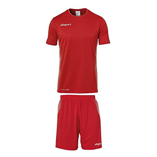 uhlsport Score Kit Maillot/Short Homme, Rouge/Blanc, FR : L (Taille Fabricant : L)