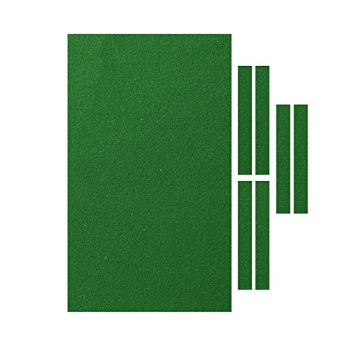Billardtuch, professioneller Billardtisch Filz passend für Standard 9 Fuß Tisch, für Indoor Billard Sport Billardtisch Tuch Zubehör Set, Grün/Rot