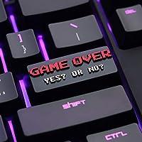 108キーメカニカルキーボード 1pc Keycapキーストーンキーキャップゲームオーバーテーマアルミ合金金属メカニカルキーボードキーキャップR4高さ (Color : Black)