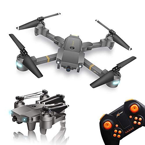 WINGLESCOUT Plegable Drone con Camara HD, 720P RC Drone Video Gran Angular FPV Drones para Niños Principiante con Camara