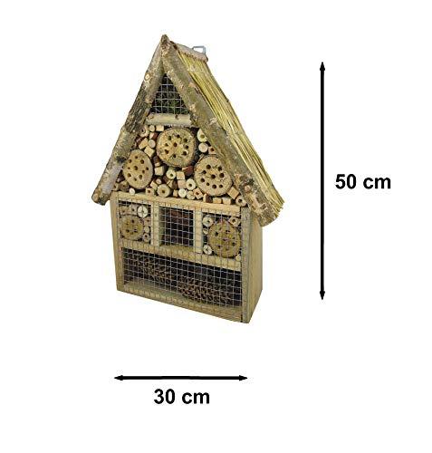 Beste Angebote Insektenhaus Insektenhotel XXL Bienenhaus Holz Winterquartier Biene Nistkasten 50x30x10cm