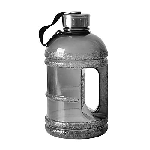 hgkl Botellas de Agua 1L / 1.5L / 2.2L Botella de coctelera de Alta Capacidad de Alta Capacidad Botella de coctelera con Mango Ciclismo al Aire Libre Gimnasio Fitness Formación